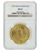 1907 NGC MS63 Saint Gaudens