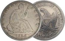 1856 o Seated Liberty Half Dollar XF-AU