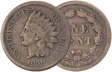 1859 Indian Head Cent - Good
