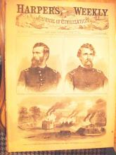 1862 Harper's Weekle w/ Civil War Soldier W. Homer