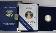 1989 1/10th Ounce Gold Proof Eagle in Box