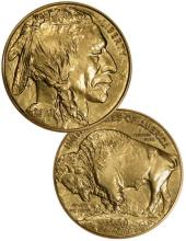 Random Date 1 oz. Gold Buffalo Bullion Round