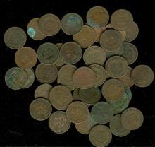 Lot of (50) Indian Head Cents - Random Dates