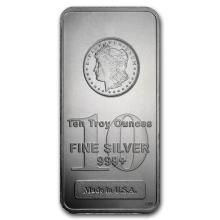 10 oz Morgan Design Silver Bullion Bar