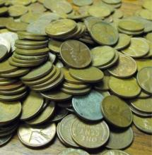 Lot of 5000 Wheat Cents! Full Bag!