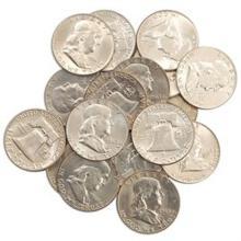 (20) Franklin Half Dollars - 90% Silver Lot