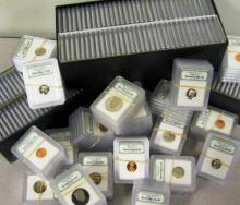Lot of (100) INB SLabbed US Coins- In Black Case