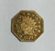 1874 California Gold $1 RARE