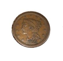 1853 Large Cent - VG Plus
