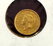 1852 $ 1 Gold Liberty Type I