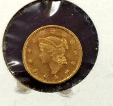 1853 $ 1 Gold Liberty Type I