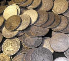 20 Morgan silver dollars - random