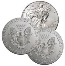 (3) Random Date US Silver Eagles-