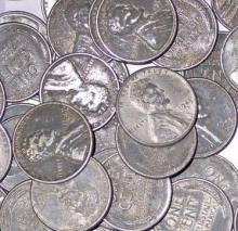 (50) WW Two Steel Cents - AG-VG Grade