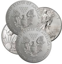 (4) Random Date US Silver Eagles