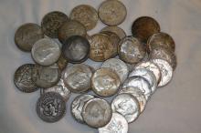 (35) Kennedy Half Dollars 90% Silver