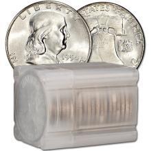 Roll of (20) BU Franklin Halves - 90% Silver