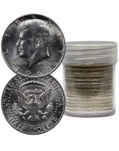 (20) Kennedy Half Dollars 1964 BU 90% Silver