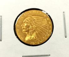 1915 $ 2.5 Gold Indian