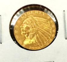 1928 $ 2.5 Gold Indian