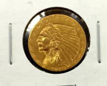 1901 $ 2.5 Gold Indian