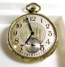 Superb Elgin Pocket Watch 15 Jewels GF Case