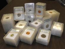 Lot of 50 INB Graded Modern BU and Proof Coins