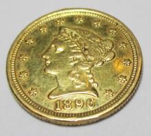 1896 $ 2.5 Gold Liberty Quarter Eagle