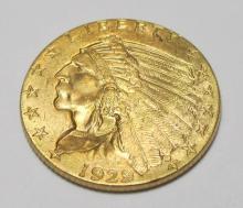 1929 CH BU $ 2.5 Gold Indian