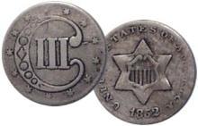 1852 THREE Cent Nickel