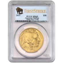 2015 MS 69 US Gold Buffalo First Strikes PCGS