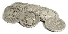(10) Washington Quarters 90% Silver Mix
