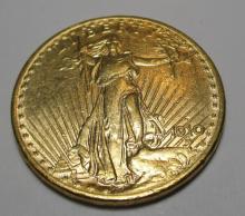1910 D Better Date $ 20 Gold Saint Gauden's
