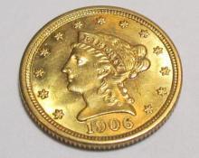 1906 $ 2.5 Gold Liberty CH BU Mint Luster