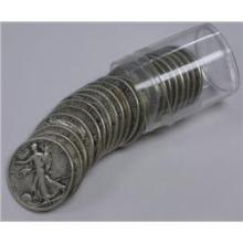 (20) Walking Liberty Halves - In Roll
