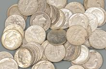 (50) Roosevelt Dimes 90% Silver $ 5 face Value