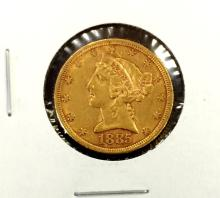 1885 $5 Gold Liberty