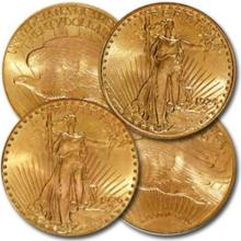 (4) Random Date Gold Saint Gauden's Double Eagles