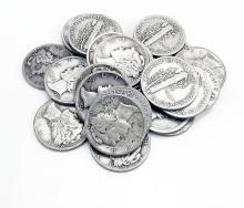 (20) Mercury Dimes -90% Silver