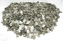(1000) $ 100 Face Value Mercury Dimes-90%