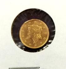 1853 Type I $ 1 Gold Liberty