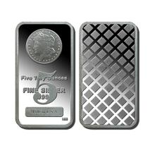 5 oz. Silver Morgan Design Bar
