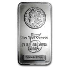 5 oz. Silver Bar - Morgan Design