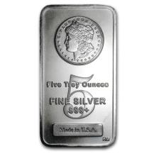 5 oz. Silver Bar Morgan Design