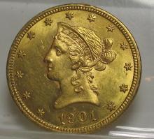 1901 $ 10 Gold Liberty Eagle