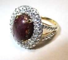 $4,941 Ruby and Sapphire Ring