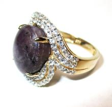 $5,259 Ruby and Sapphire Ring