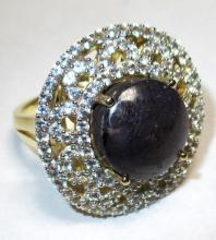$5,325 Ruby and Sapphire Ring