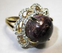 $3,100 Ruby and Sapphire Ring