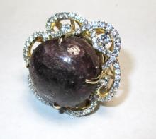 $6,420 Ruby and Sapphire Ring